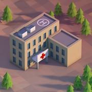 Lowpoly Krankenhaus 3d model