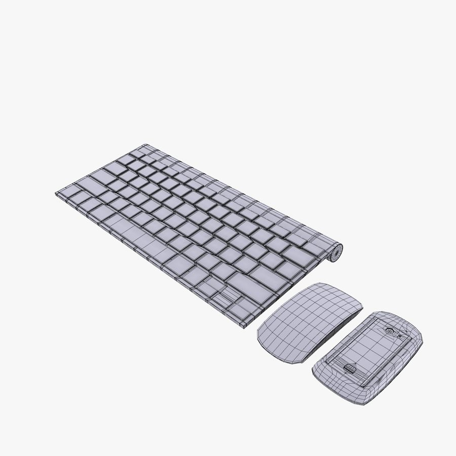 Mac Keyboard Mouse royalty-free 3d model - Preview no. 16
