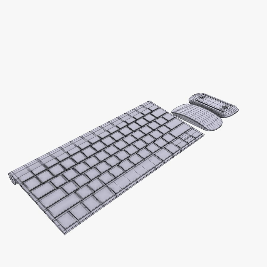 Mac Keyboard Mouse royalty-free 3d model - Preview no. 17