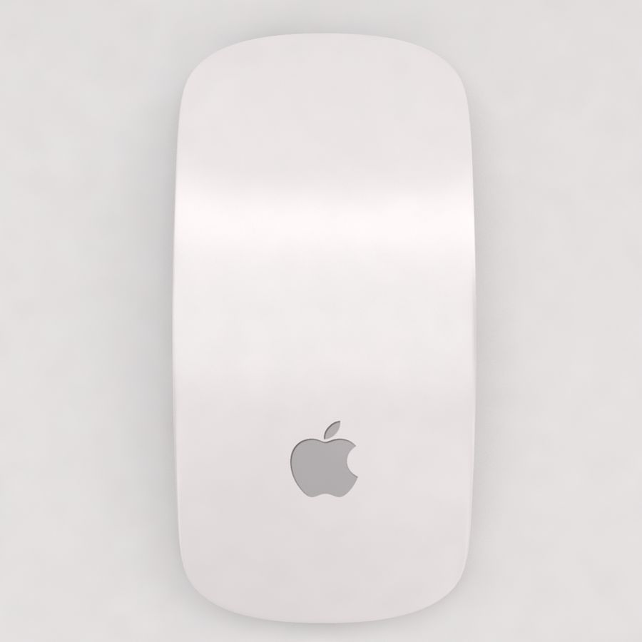 Mac Keyboard Mouse royalty-free 3d model - Preview no. 11