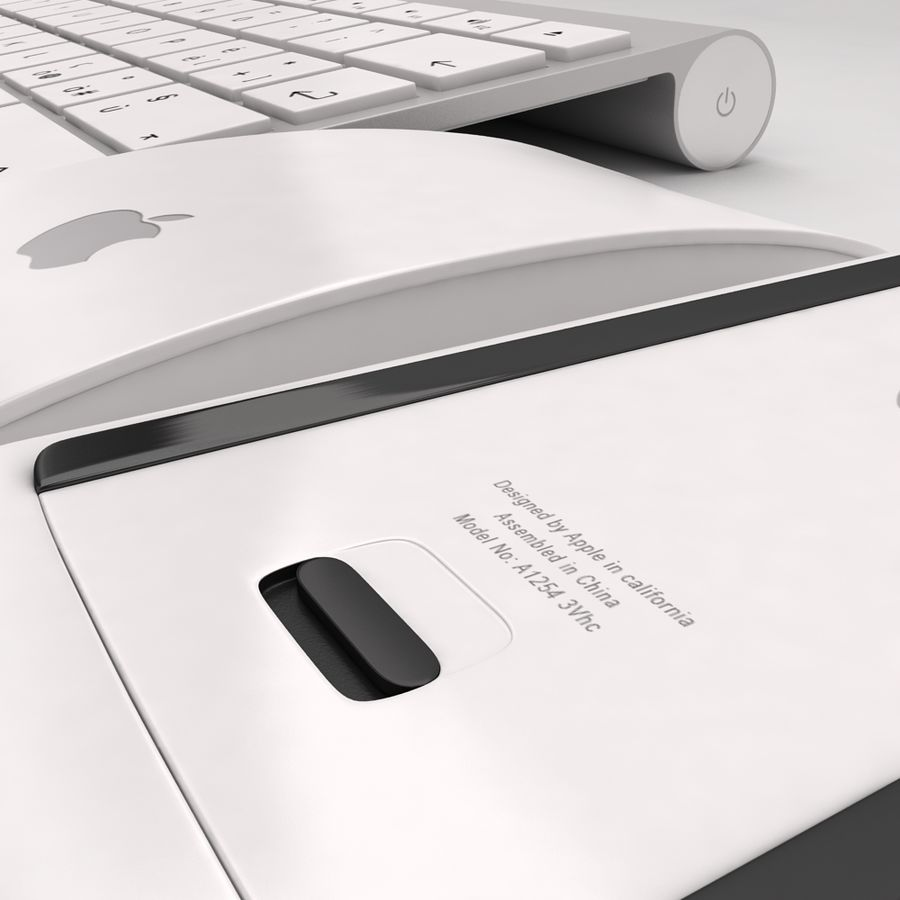 Mac Keyboard Mouse royalty-free 3d model - Preview no. 15