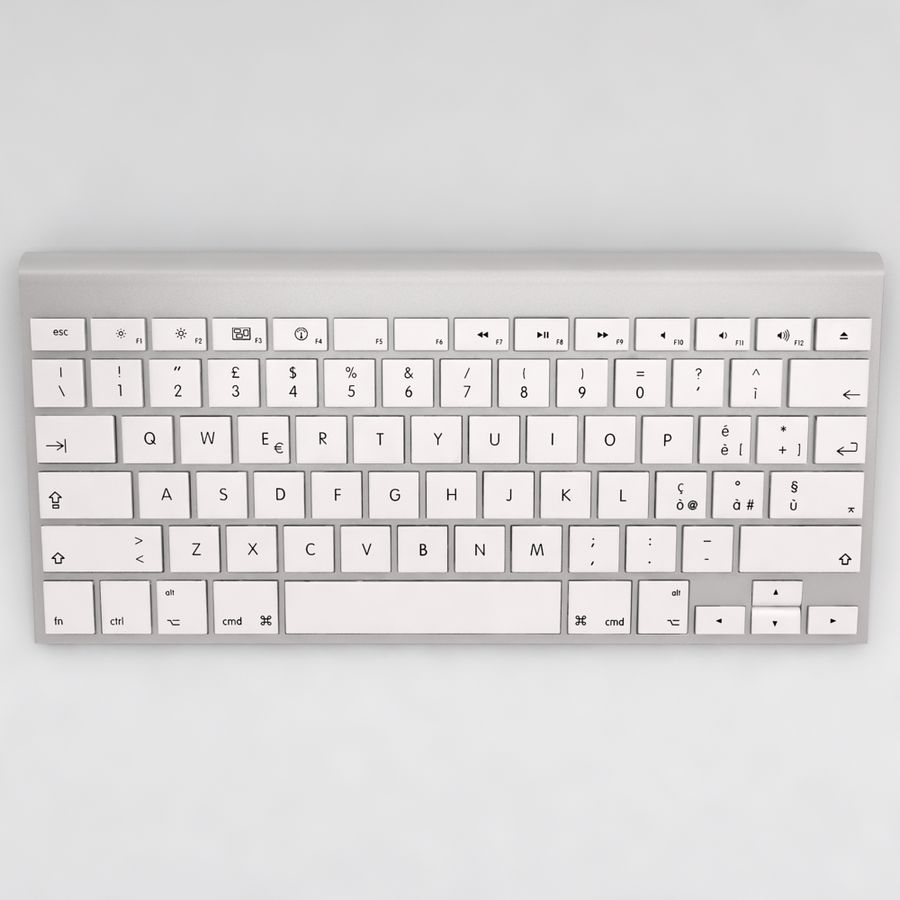 Mac Keyboard Mouse royalty-free 3d model - Preview no. 5