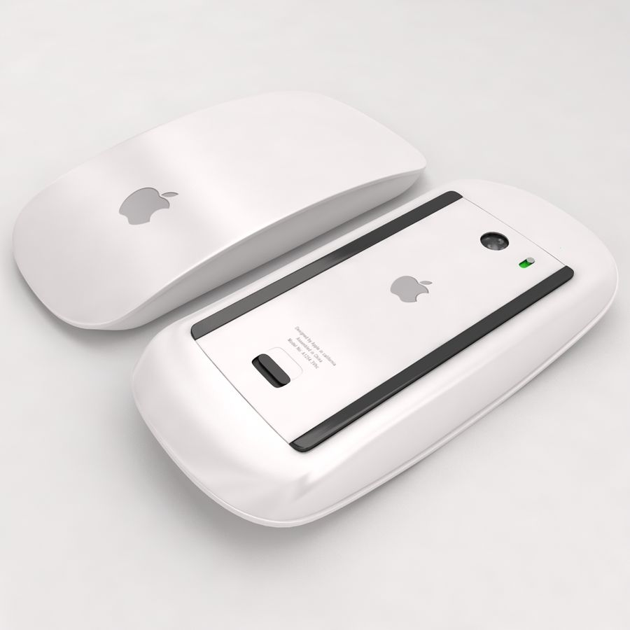 Mac Keyboard Mouse royalty-free 3d model - Preview no. 13