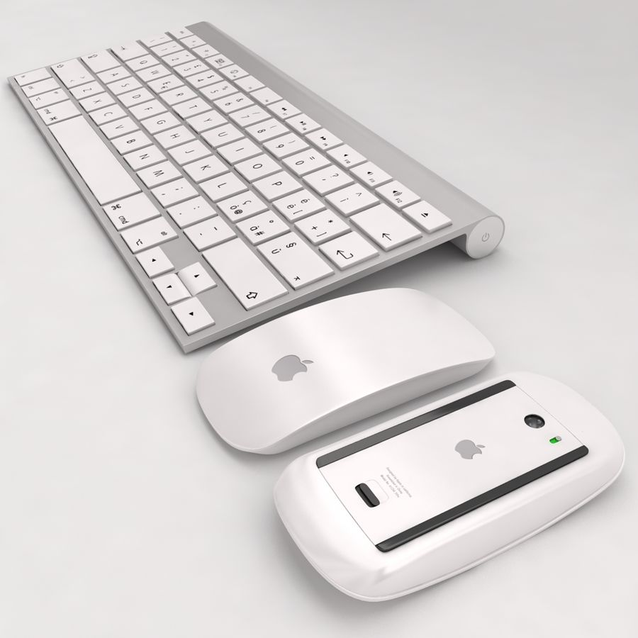 Mac Keyboard Mouse royalty-free 3d model - Preview no. 3
