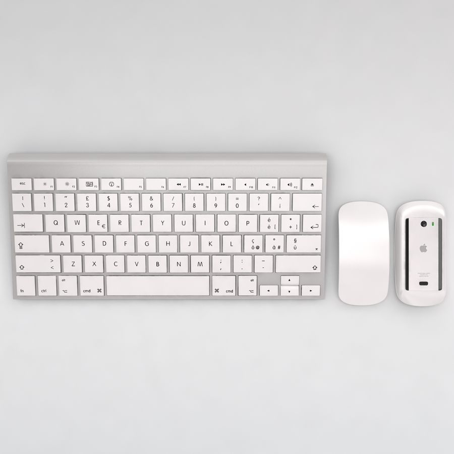 Mac Keyboard Mouse royalty-free 3d model - Preview no. 1