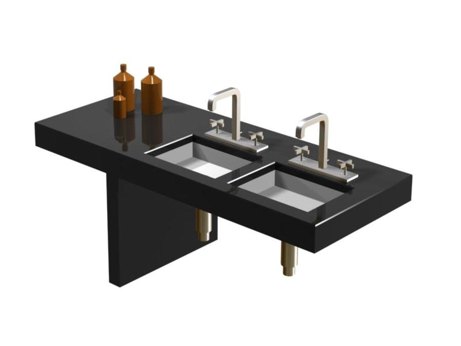 Axor 3 delikli lavabo bataryası royalty-free 3d model - Preview no. 1