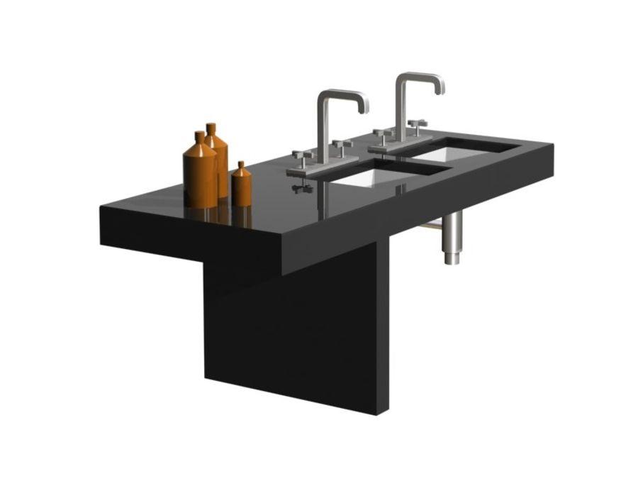 Axor 3 delikli lavabo bataryası royalty-free 3d model - Preview no. 3