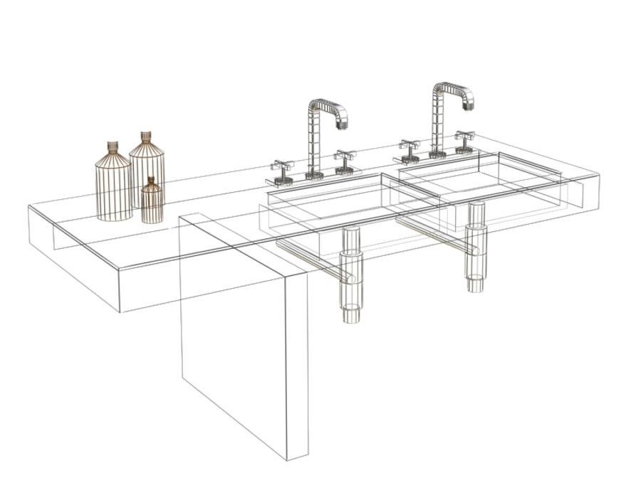Axor 3 delikli lavabo bataryası royalty-free 3d model - Preview no. 5