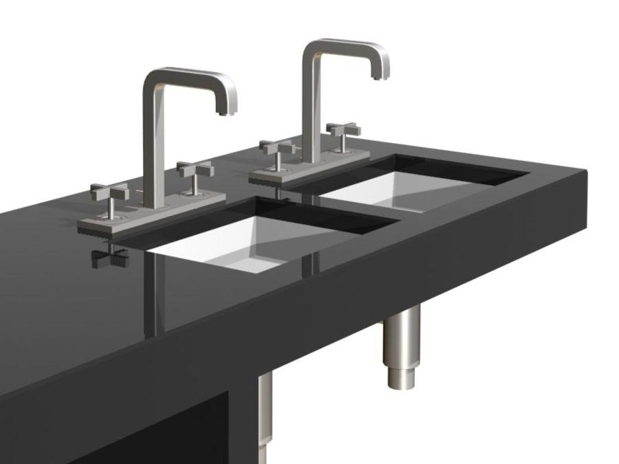 Axor 3 delikli lavabo bataryası royalty-free 3d model - Preview no. 4