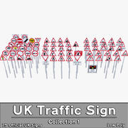 UK Traffic Sign Collection #1 3d model