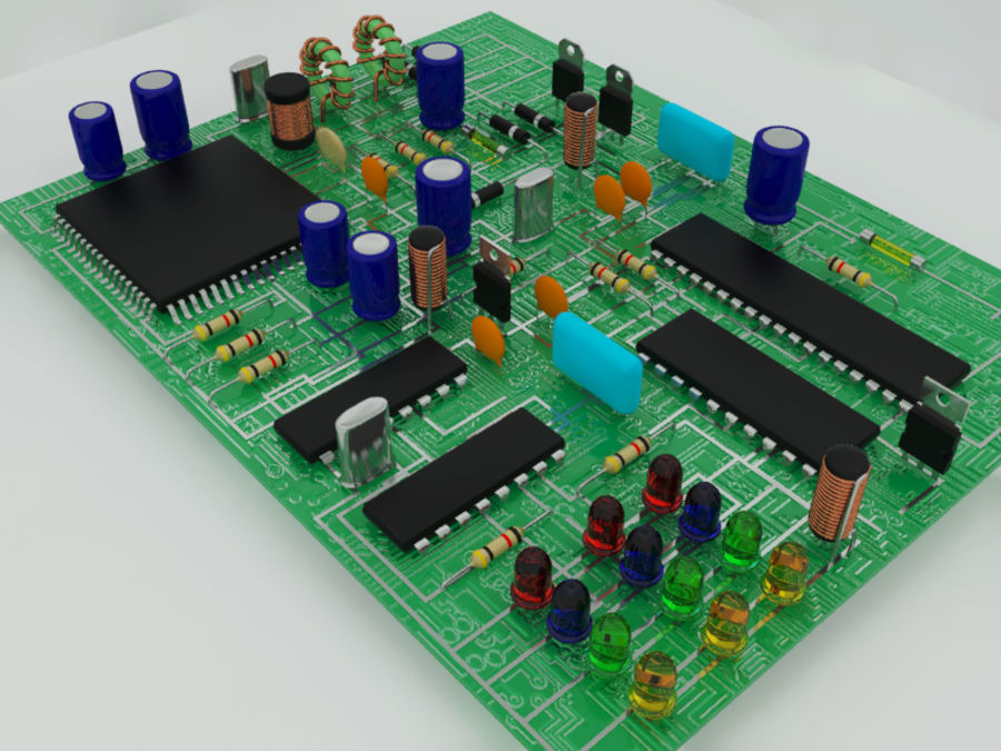 Electronic Component royalty-free 3d model - Preview no. 3