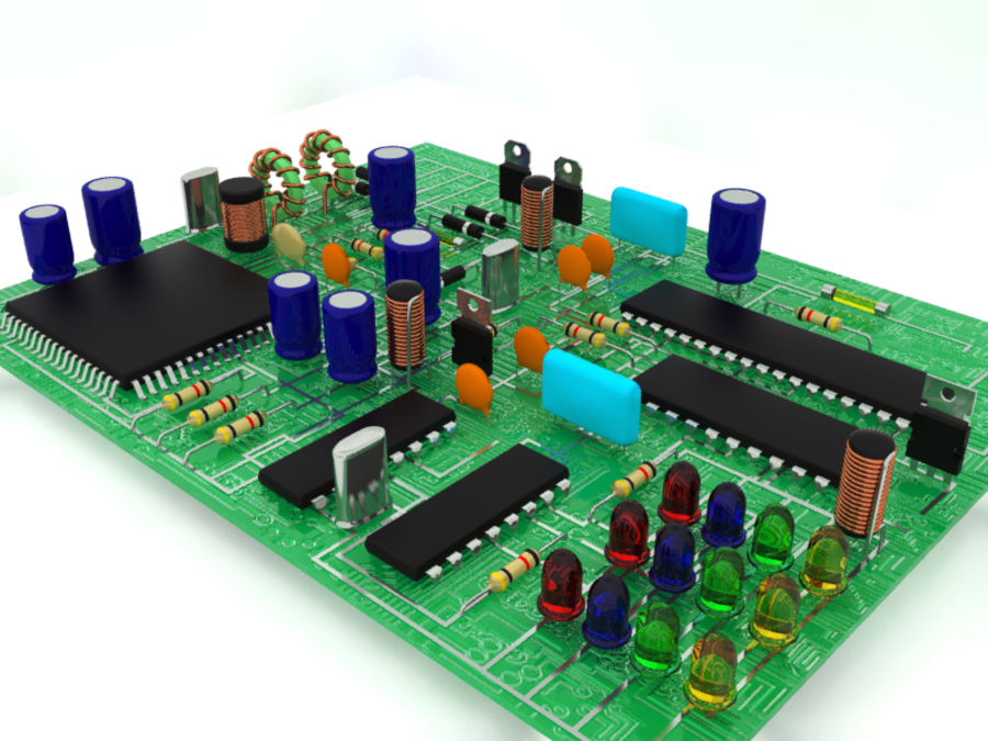 Electronic Component royalty-free 3d model - Preview no. 4