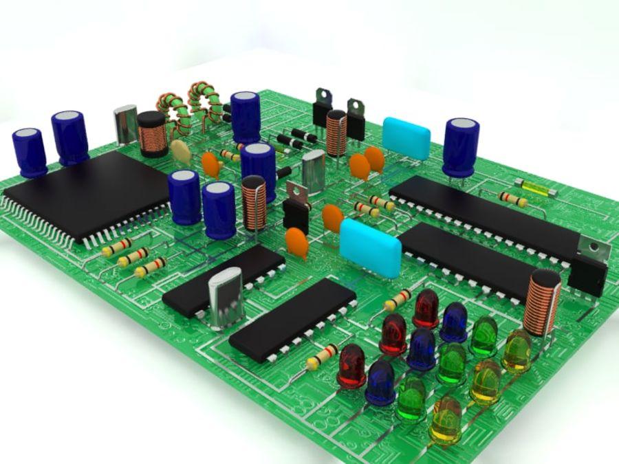 Elektronik Bileşen royalty-free 3d model - Preview no. 4