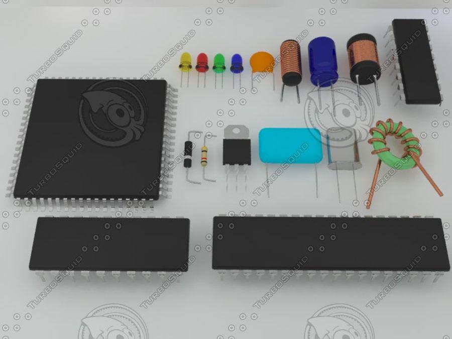 Elektronik Bileşen royalty-free 3d model - Preview no. 5