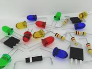 Componente electrónico modelo 3d