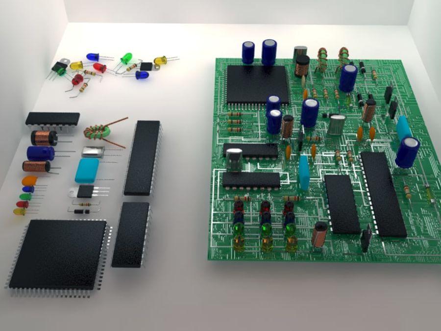 Elektronik Bileşen royalty-free 3d model - Preview no. 9