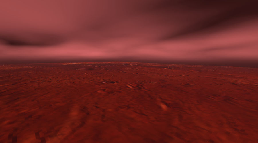 Mars athmosphere, clouds royalty-free 3d model - Preview no. 1