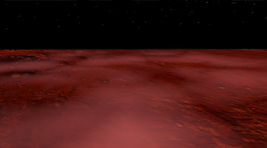 Mars athmosphere, clouds royalty-free 3d model - Preview no. 2