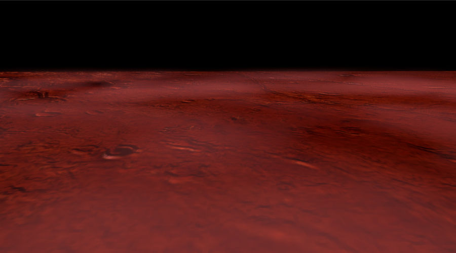 Mars athmosphere, clouds royalty-free 3d model - Preview no. 4