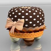 Choco crianças fezes frutas cereja fruffet tuffet pouco bonito chocolate diversão senhorita muffet menina quarto bolo 3d model