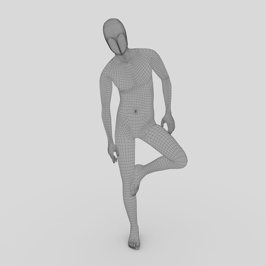 Manequim masculino 4 royalty-free 3d model - Preview no. 4