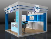 Booth Exhibition Stand a131 3d model
