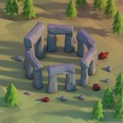 Lowpoly stonehenge 3d model