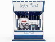kiosk product 3d model