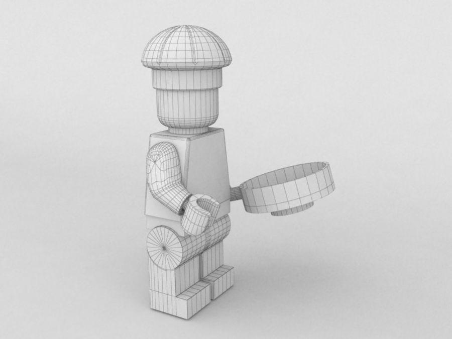 レストランのチーフレゴキャラクター royalty-free 3d model - Preview no. 7