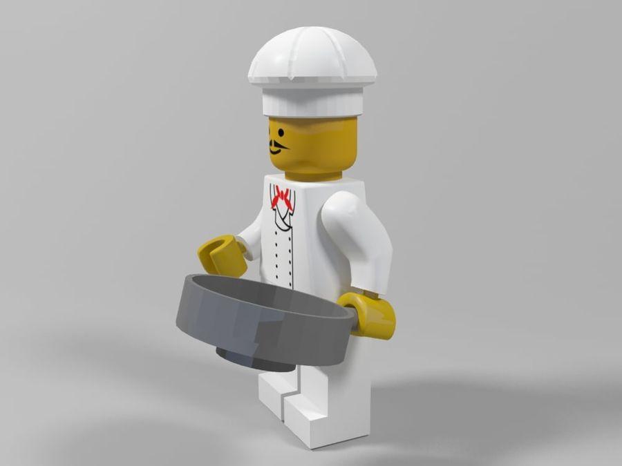 レストランのチーフレゴキャラクター royalty-free 3d model - Preview no. 3