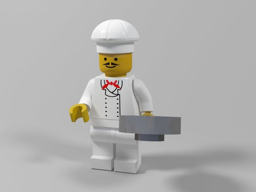 レストランのチーフレゴキャラクター royalty-free 3d model - Preview no. 1