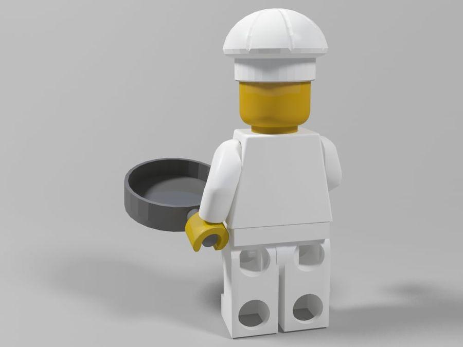 レストランのチーフレゴキャラクター royalty-free 3d model - Preview no. 2