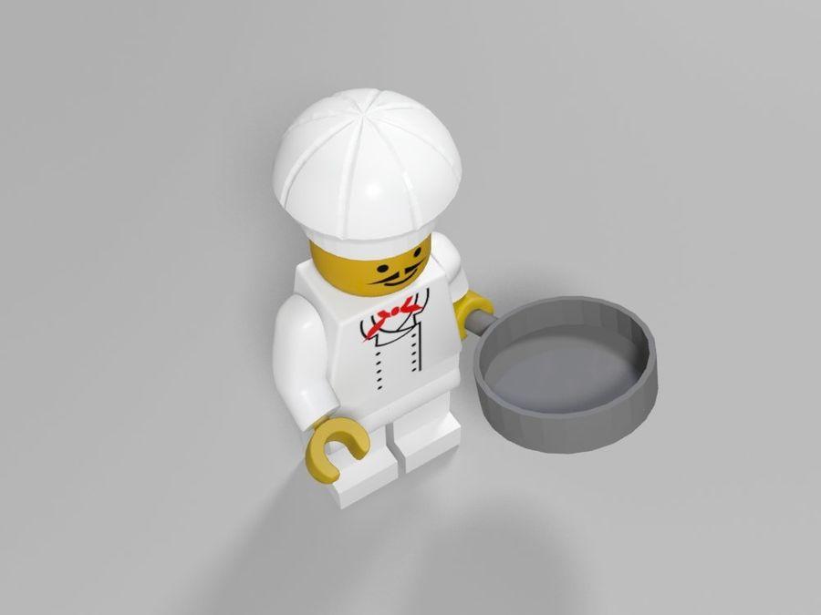 レストランのチーフレゴキャラクター royalty-free 3d model - Preview no. 4
