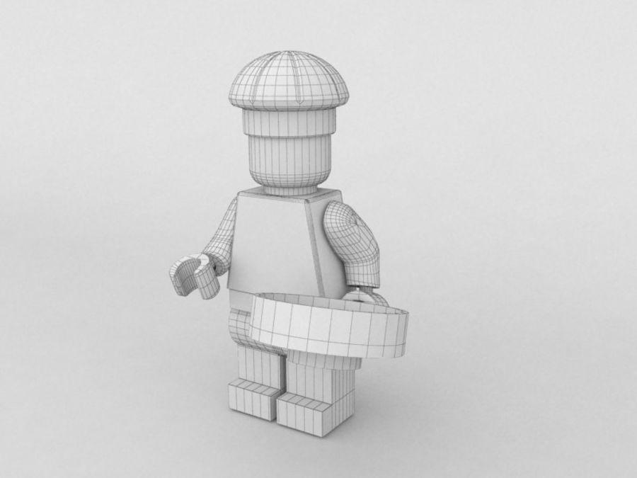 レストランのチーフレゴキャラクター royalty-free 3d model - Preview no. 5