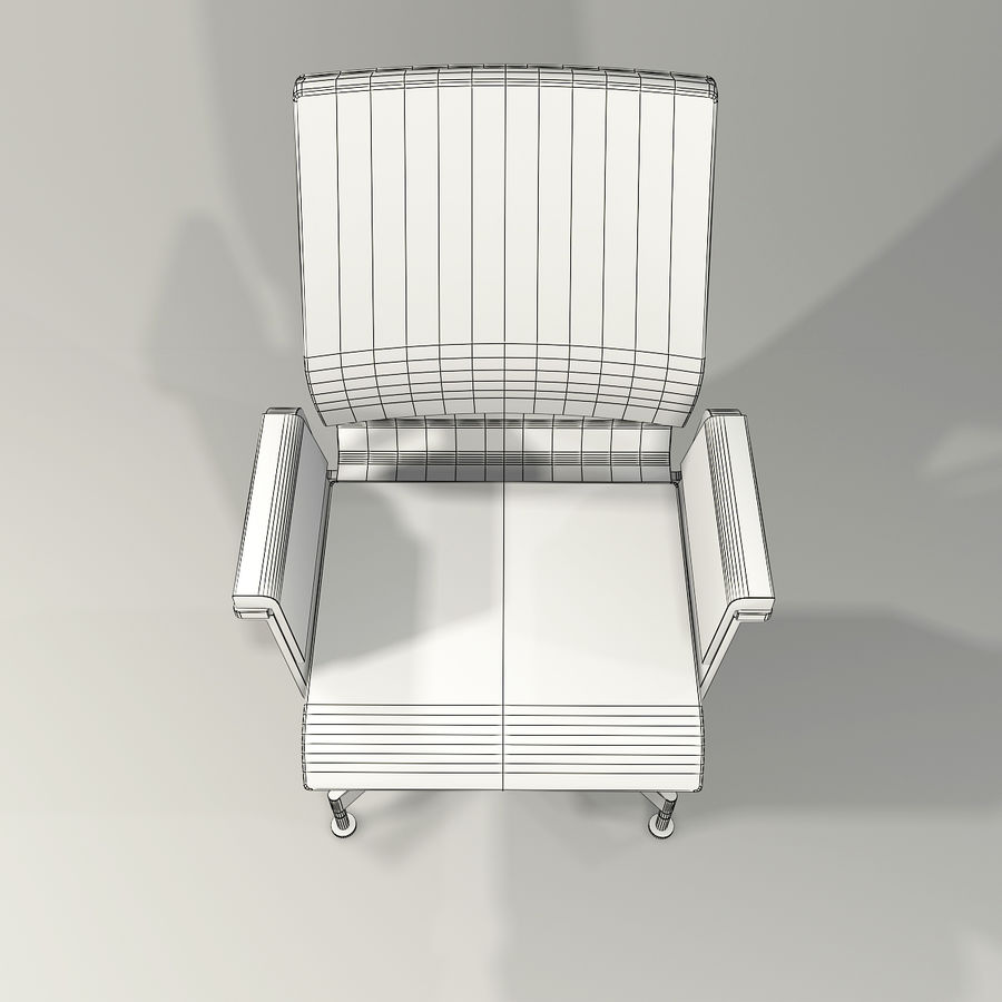 Office Task Chair - Festgelegt royalty-free 3d model - Preview no. 14
