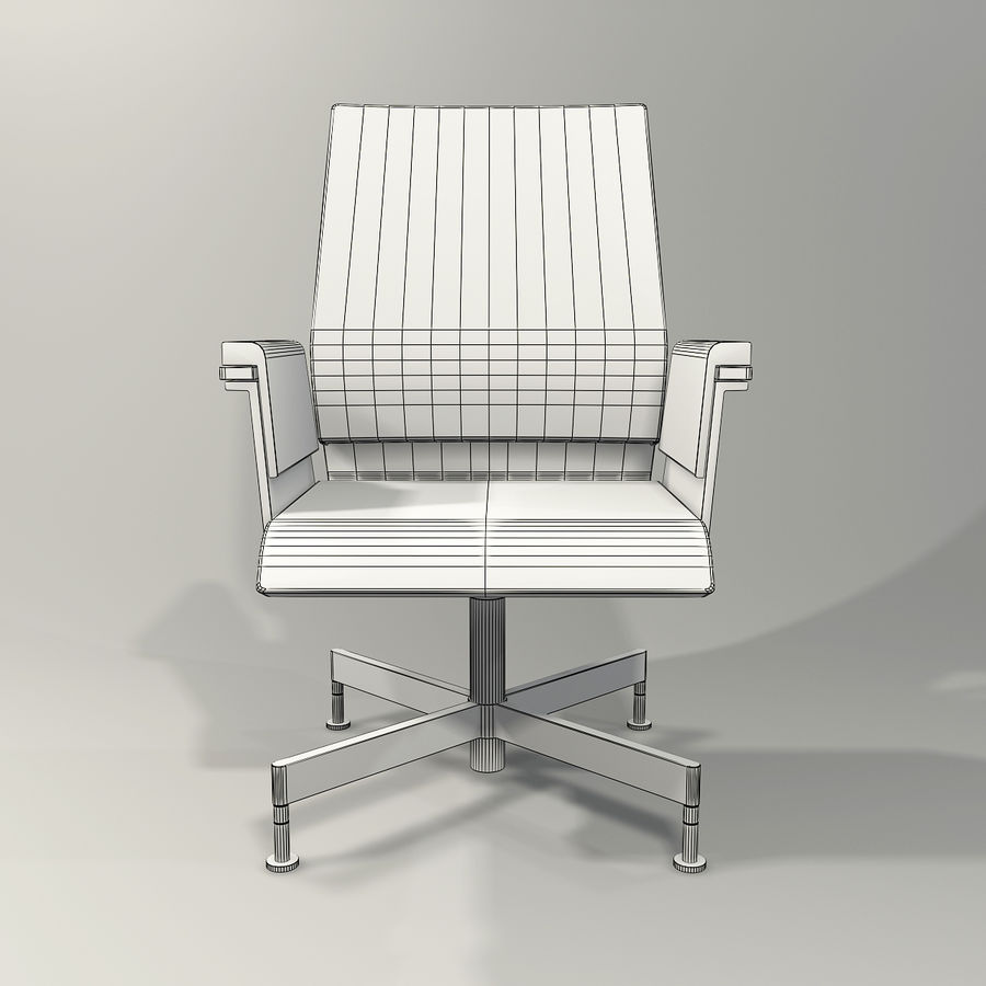 Office Task Chair - Festgelegt royalty-free 3d model - Preview no. 10