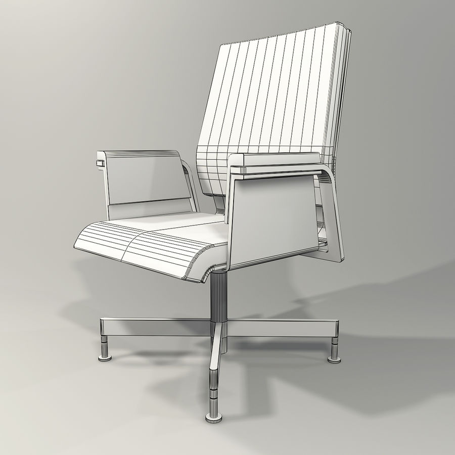 Office Task Chair - Festgelegt royalty-free 3d model - Preview no. 9