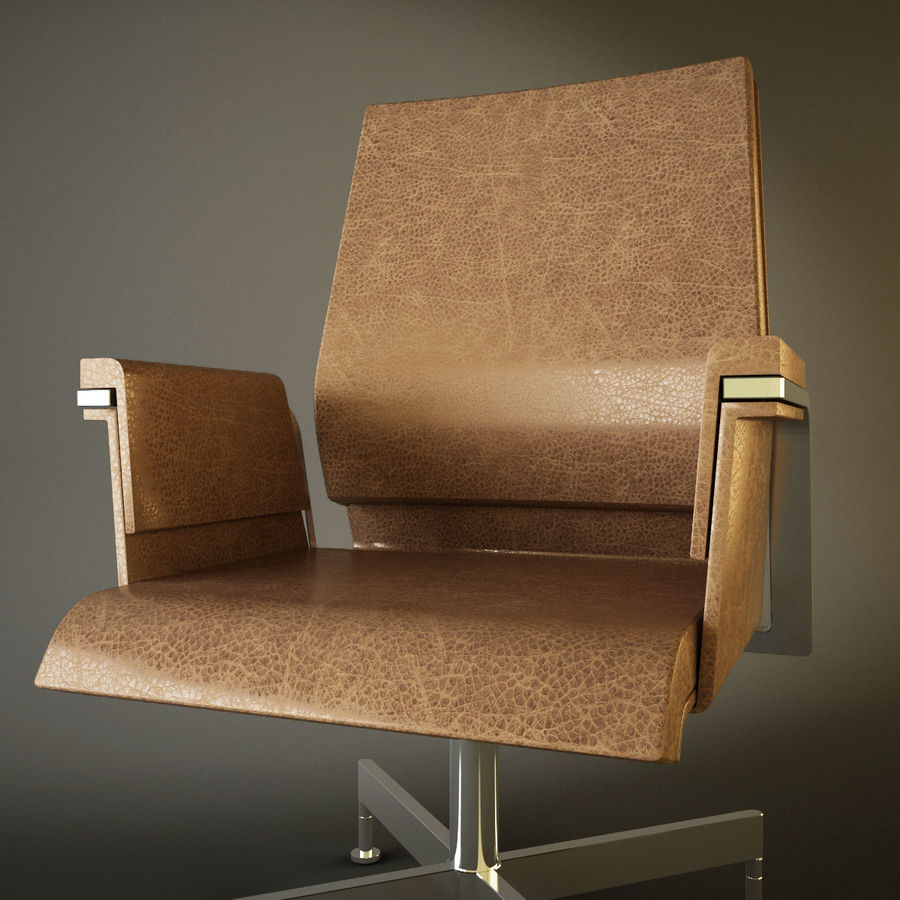 Office Task Chair - Festgelegt royalty-free 3d model - Preview no. 8