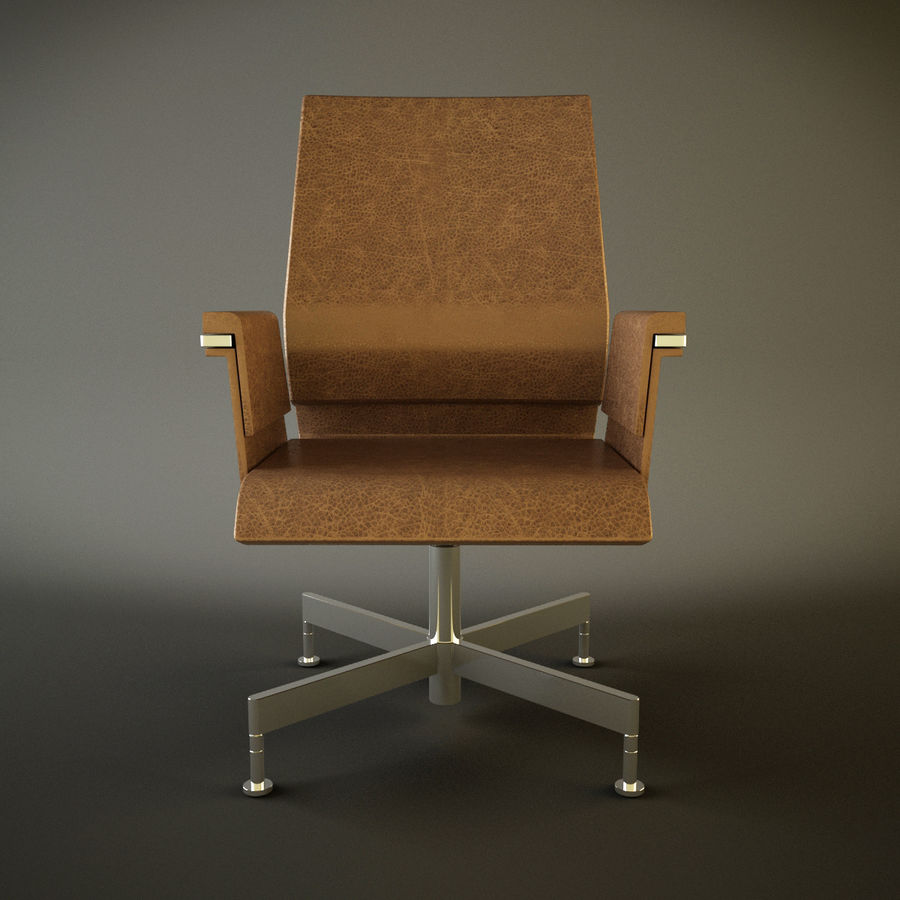 Office Task Chair - Festgelegt royalty-free 3d model - Preview no. 3