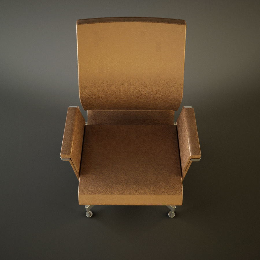 Office Task Chair - Festgelegt royalty-free 3d model - Preview no. 7