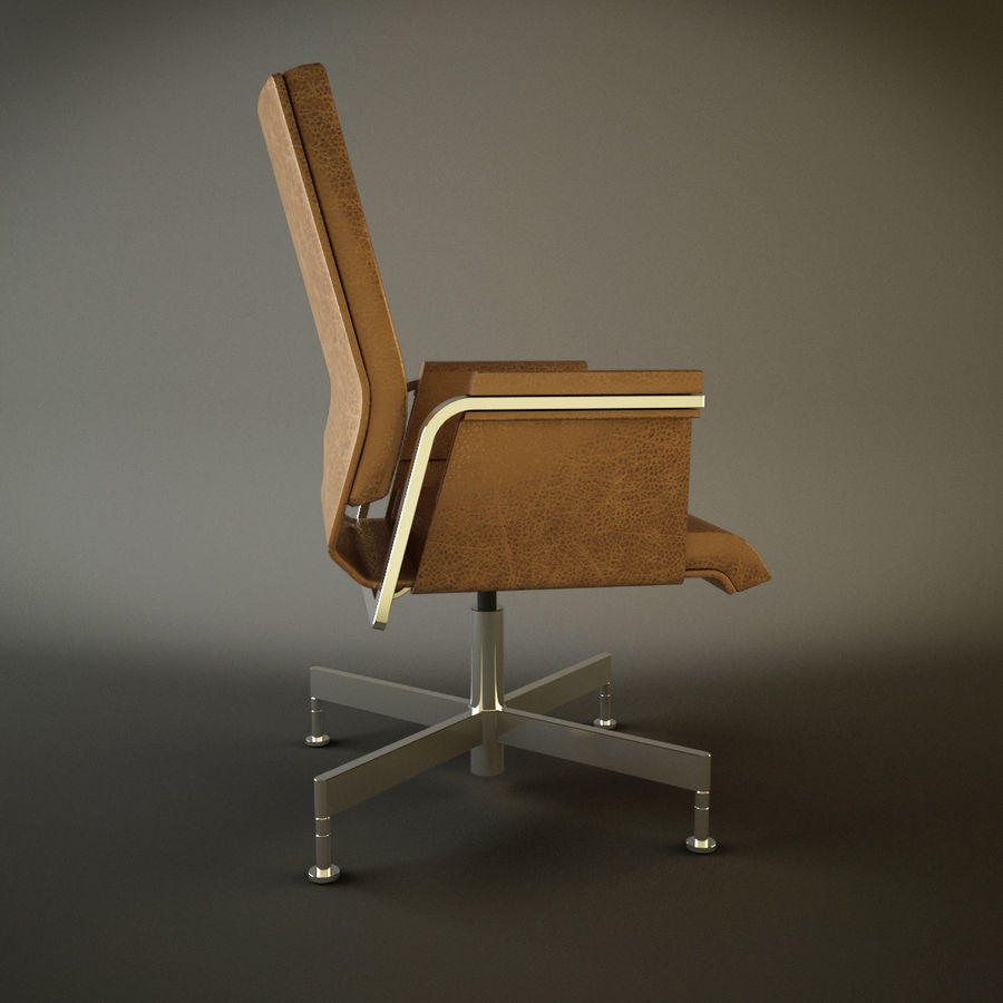 Office Task Chair - Festgelegt royalty-free 3d model - Preview no. 6