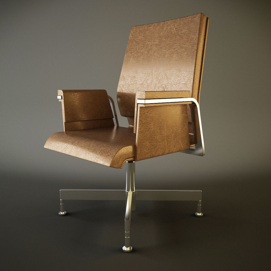 Office Task Chair - Festgelegt royalty-free 3d model - Preview no. 2