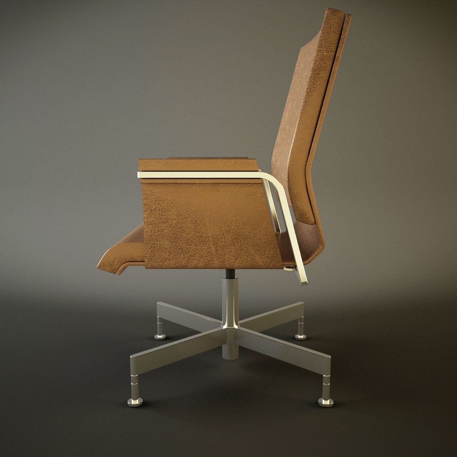 Office Task Chair - Festgelegt royalty-free 3d model - Preview no. 4