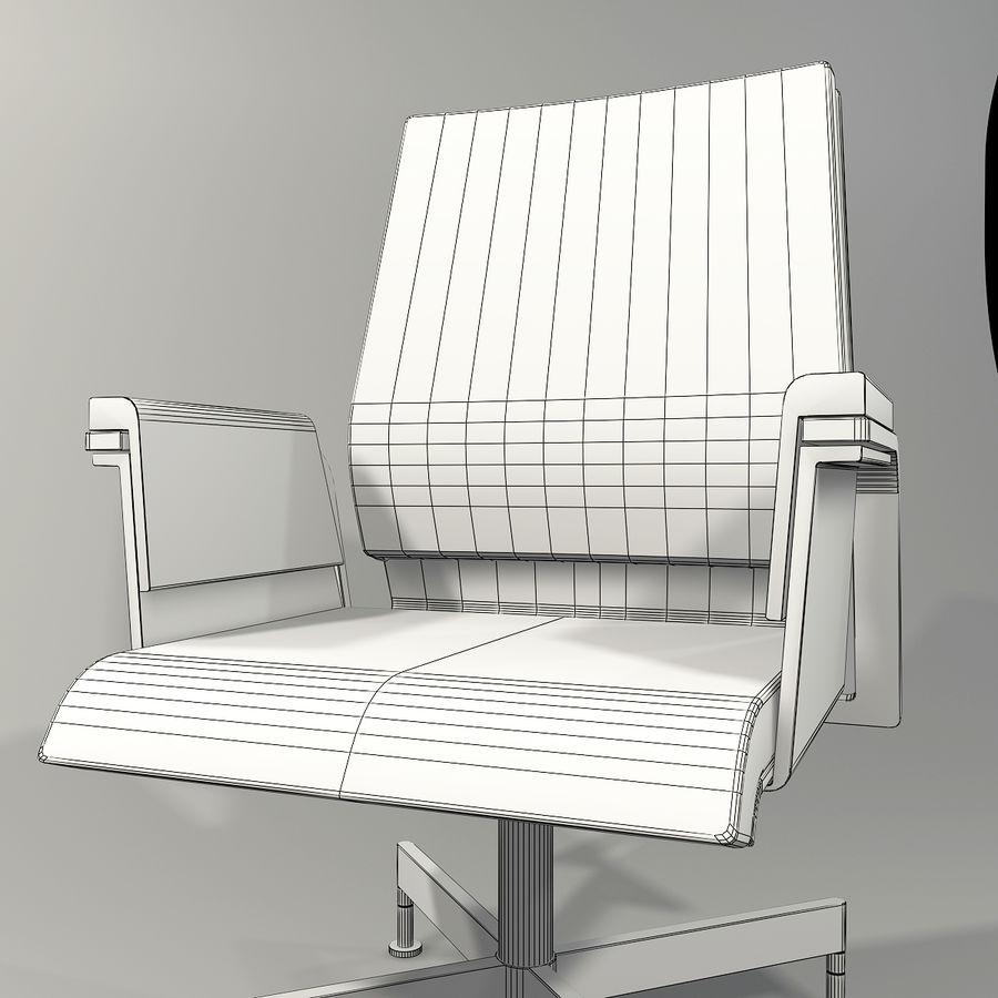Office Task Chair - Festgelegt royalty-free 3d model - Preview no. 15