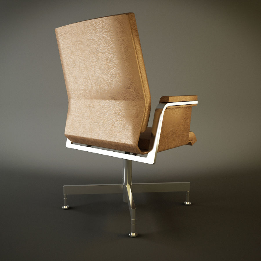 Office Task Chair - Festgelegt royalty-free 3d model - Preview no. 5