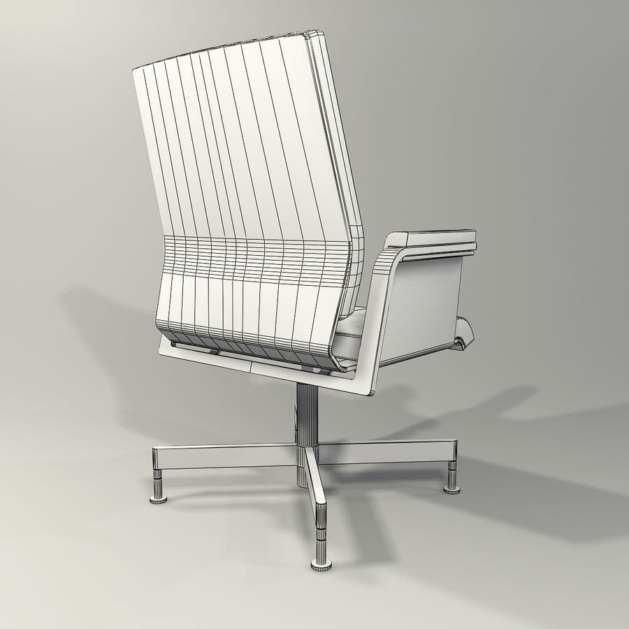 Office Task Chair - Festgelegt royalty-free 3d model - Preview no. 12