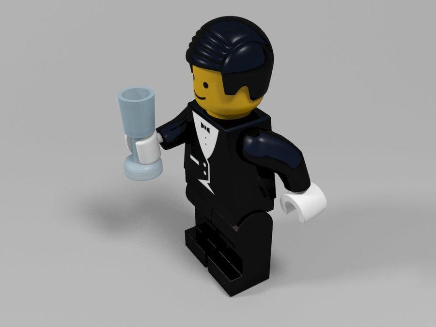 Restauracyjne postacie Lego royalty-free 3d model - Preview no. 15
