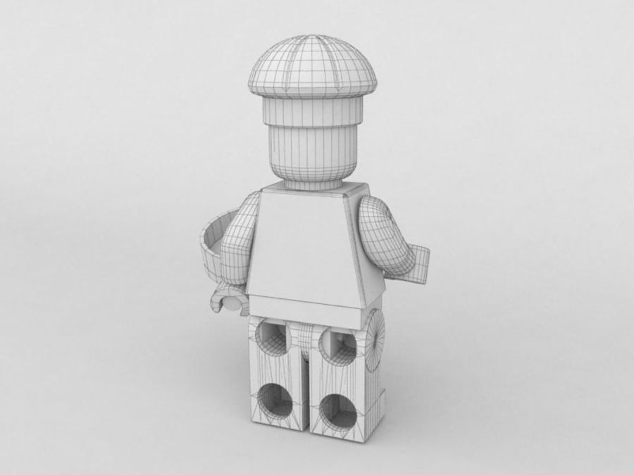 Restauracyjne postacie Lego royalty-free 3d model - Preview no. 10