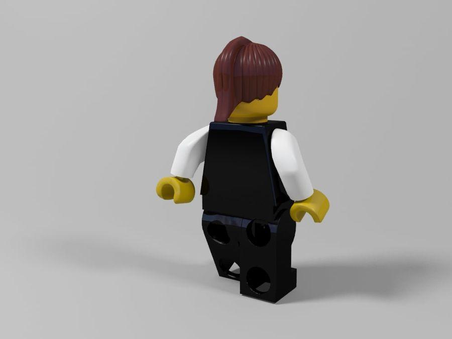 Restauracyjne postacie Lego royalty-free 3d model - Preview no. 20