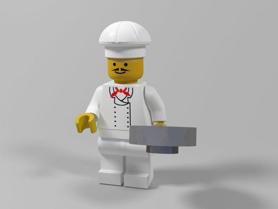 Restauracyjne postacie Lego royalty-free 3d model - Preview no. 5